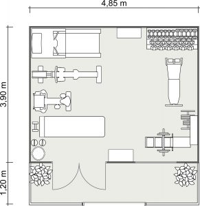 2D Floor Plan of The She Shed Cabin